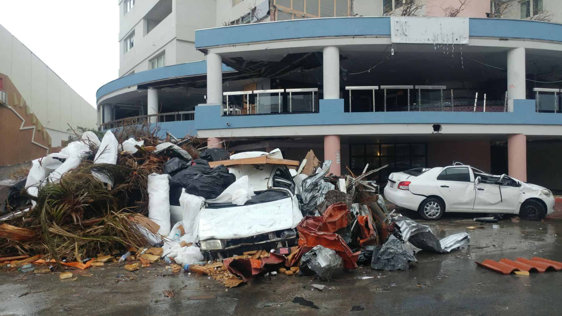 The devastation on St. Martin was extensive. Our team members report that houses upon houses were badly damaged. Roofs were blown off. Irma's Category-5 winds lifted cars and flung them into trees.
