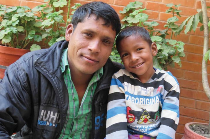 """Through Samaritan's Purse's """"Patient Navigation Program"""" that covers travel and accommodation costs to make acess to medical help possible, Sumit and his father Kalam traveled to Kathmandu so the little boy could undergo several rounds of orthopedic surgery, and receive several months of rehabilitation."""