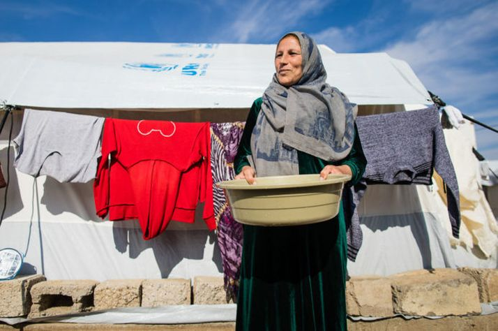 Five months pregnant, Seyda fled Syria for safety along with her 2.5-year-old daughter.