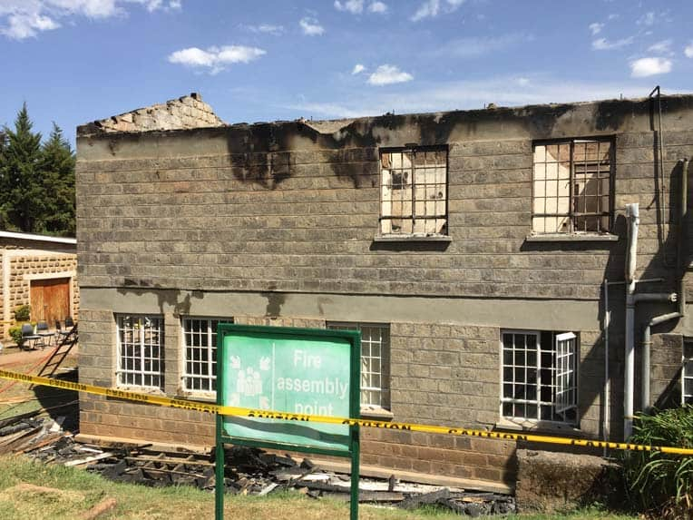 The fire destroyed the kitchen and laundry facilities.
