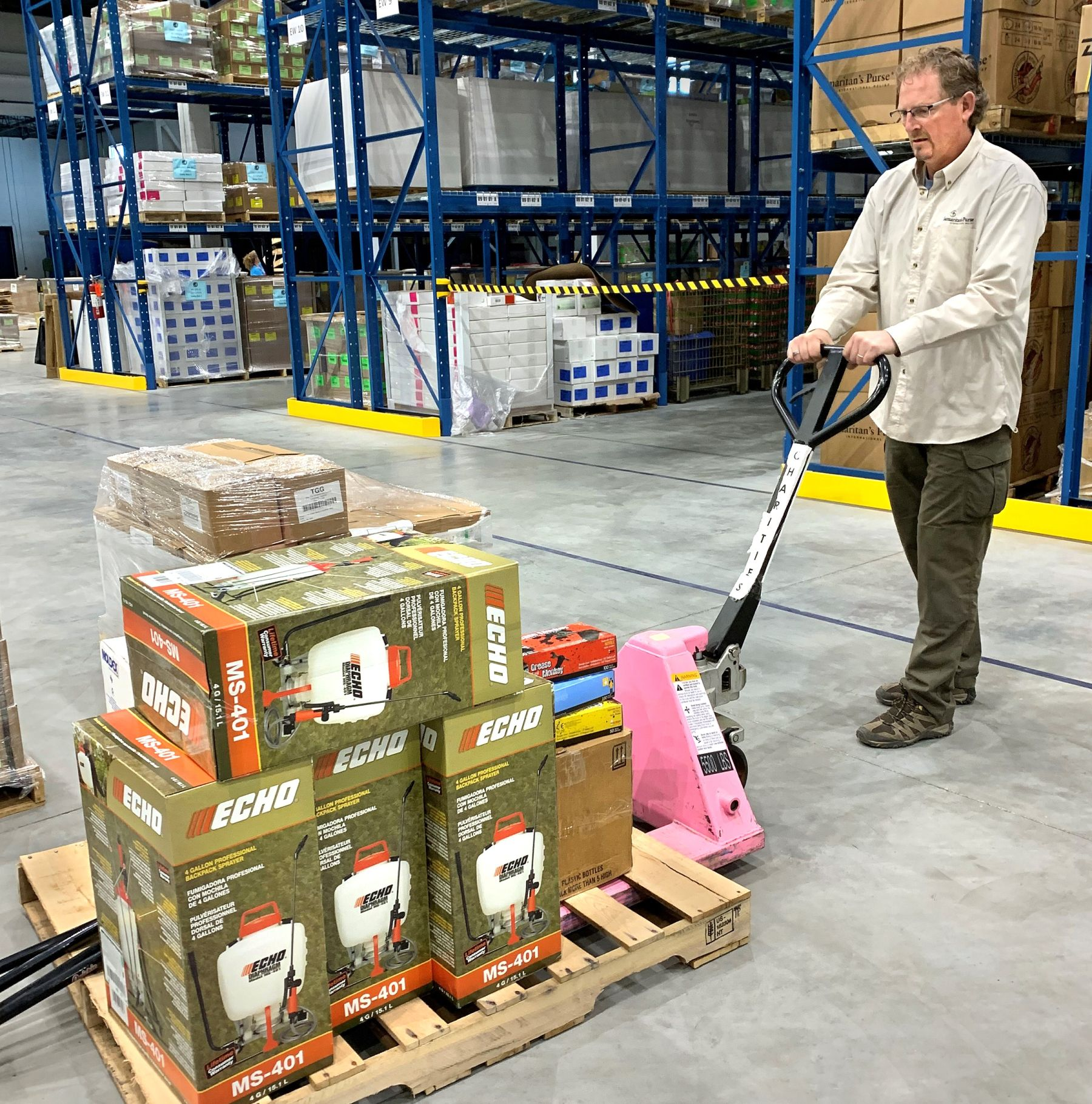 Samaritan's Purse is sending anti-mold spray, backpack sprayers, gloves, Tyvek suits, brushes, and more to Fort Simpson and Jean Marie River in Northwest Territories.