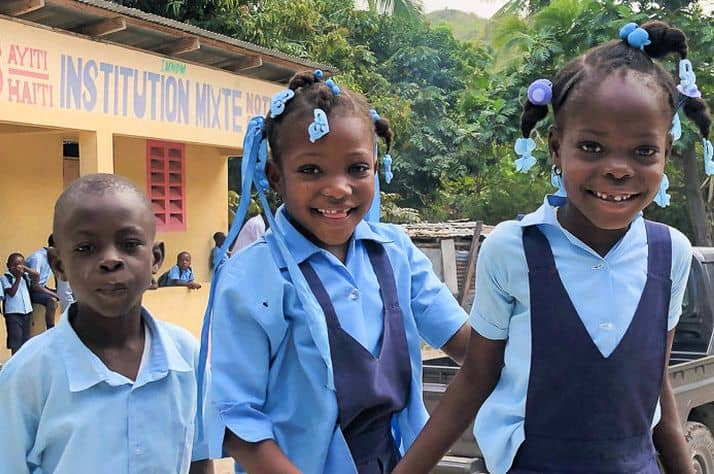 Water project promotes physical, spiritual health at Haiti school