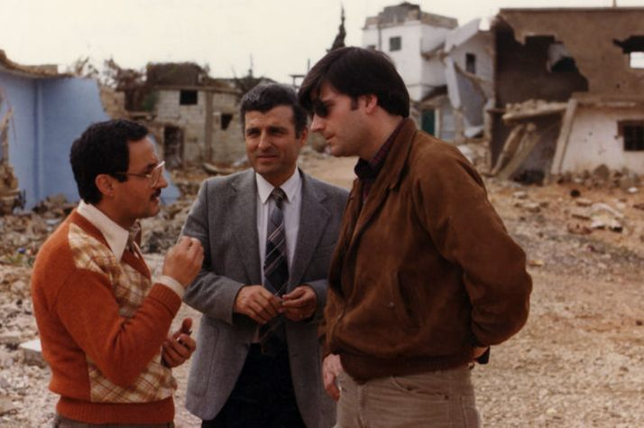 Sami Dagher (center) connects Franklin Graham (right) to opportunities for Samaritan's Purse to serve during the Lebanese Civil War.