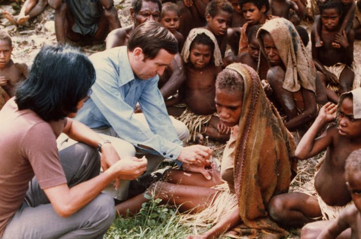 Dr. Dick Furman at work in Papua New Guinea.