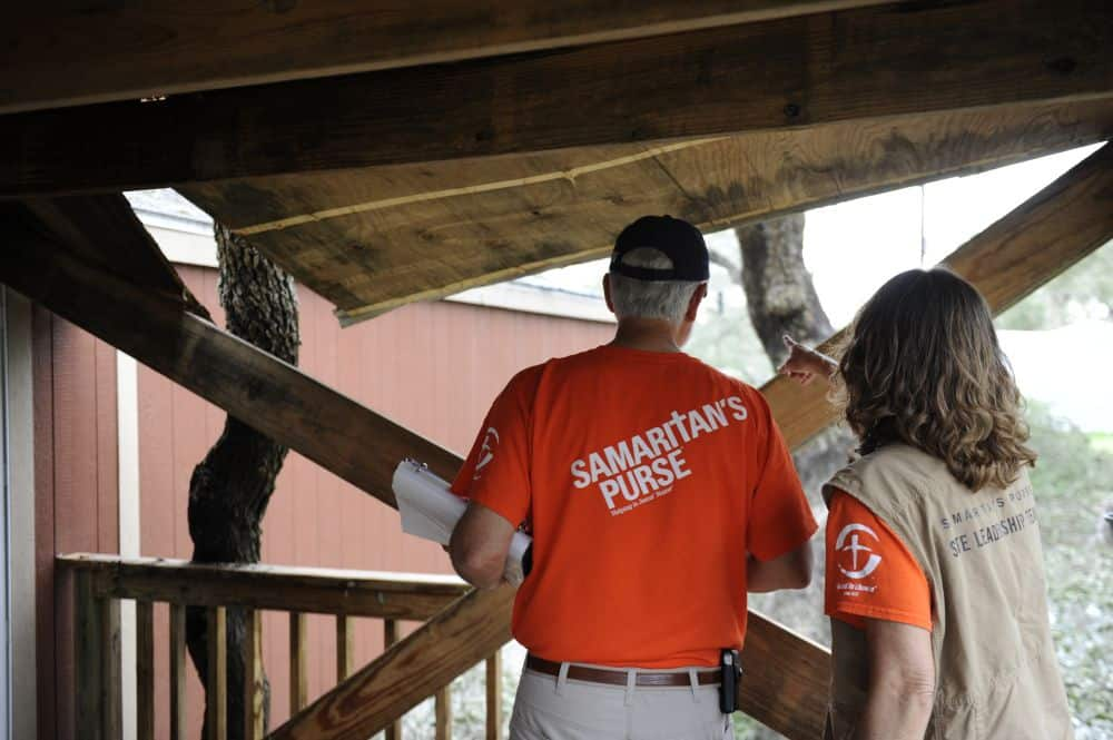 Samaritan's Purse teams are assessing damage in homes in Texas.