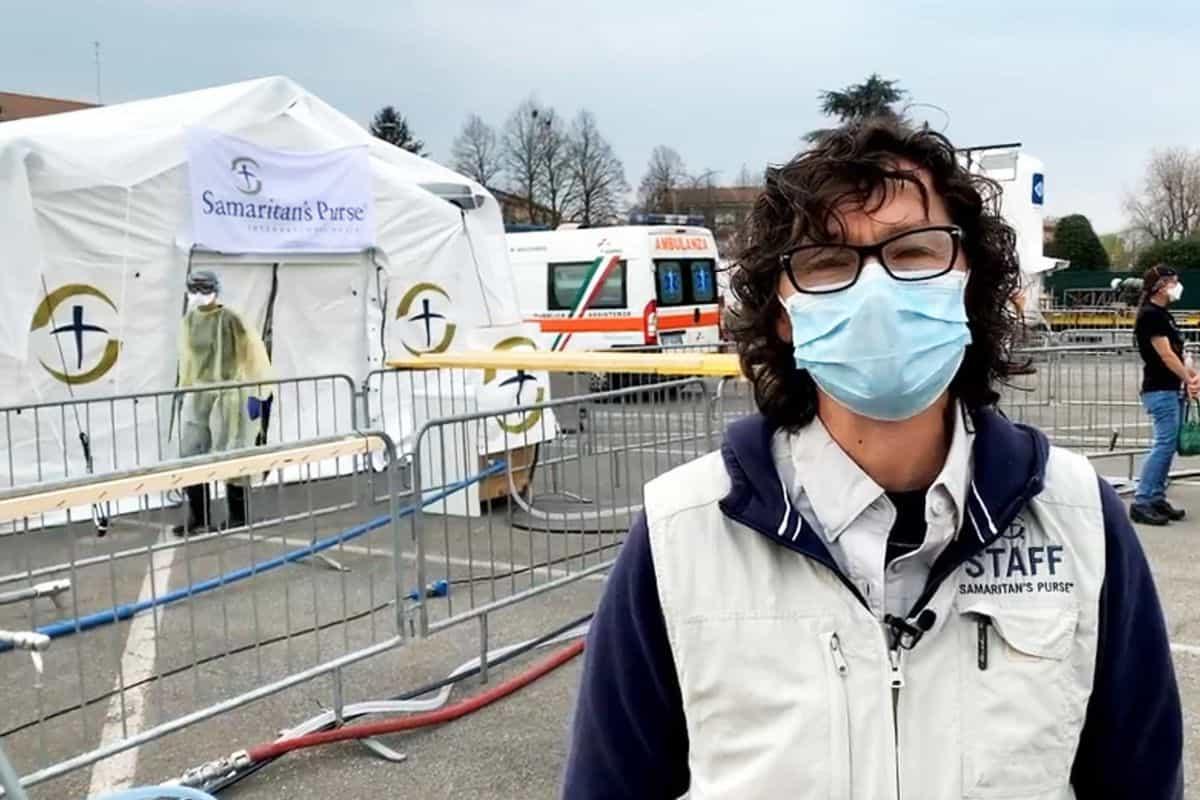 Bev Kauffeldt at the Samaritan's Purse emergency hospital.