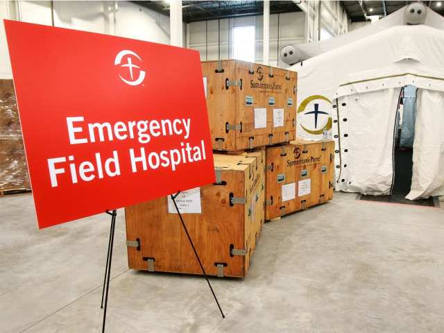 The emergency field hospital. DEAN PILING/POSTMEDIA