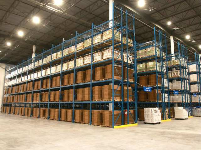 Goods for an emergency are stacked floor to ceiling in Samaritan's Purse's new warehouse. DEAN PILING/POSTMEDIA