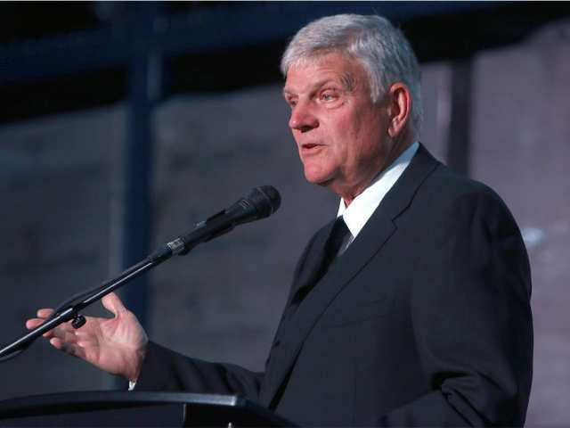 Franklin Graham, president and CEO of Samaritan's purse and the Billy Graham Evangelistic Association, speaks at a dedication ceremony for the organization's new warehouse on Friday, June 7, 2019. DEAN PILING / POSTMEDIA