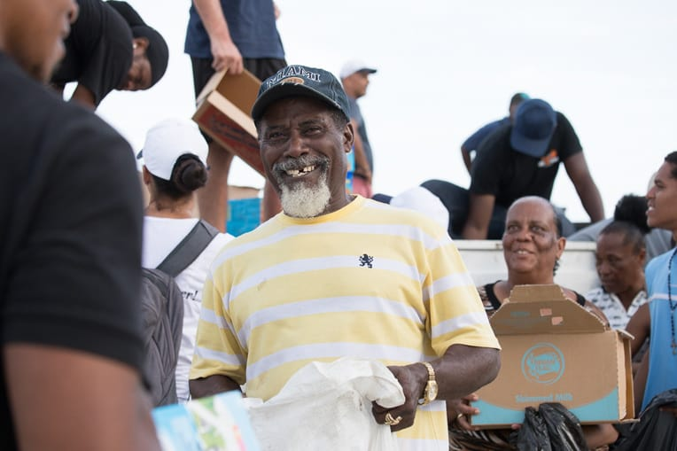 Families in St. Martin are grateful to receive critically needed relief items.