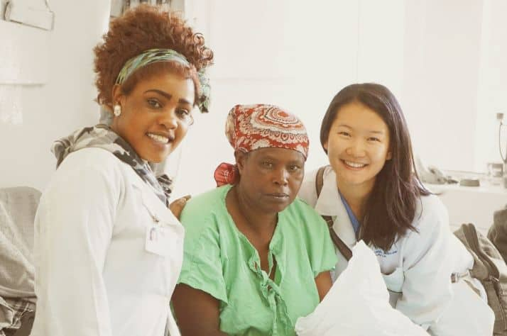 Canadian Internal Medicine Resident Molly Lin (right) recently served patients at Kenya's Kijabe Hospital.