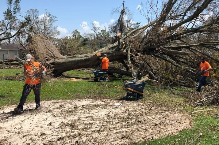 Samaritan's Purse volunteers at work in Louisiana.