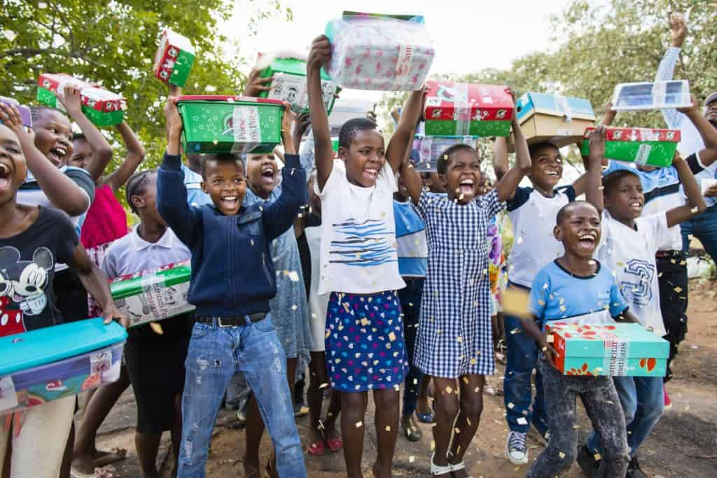 An Operation Christmas Child shoebox gift is sometimes the first gift children receive.
