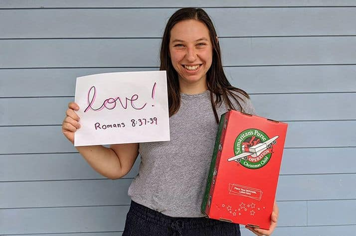"Shoebox packer Natalie Kubosh chose ""love"" as her one word. ""I see a child that may have been forgotten by man but is known, seen, and loved fiercely by their Creator,"" she said. ""I see an opportunity to share with them the Greatest Gift through a simple shoebox gift. This Love has the power to turn lives around by bringing ultimate healing, perfect peace, and never-ending joy to their young hearts."""