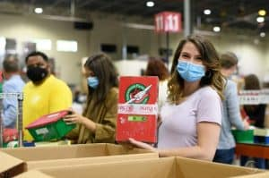 Volunteer at our Operation Christmas Child Calgary processing center
