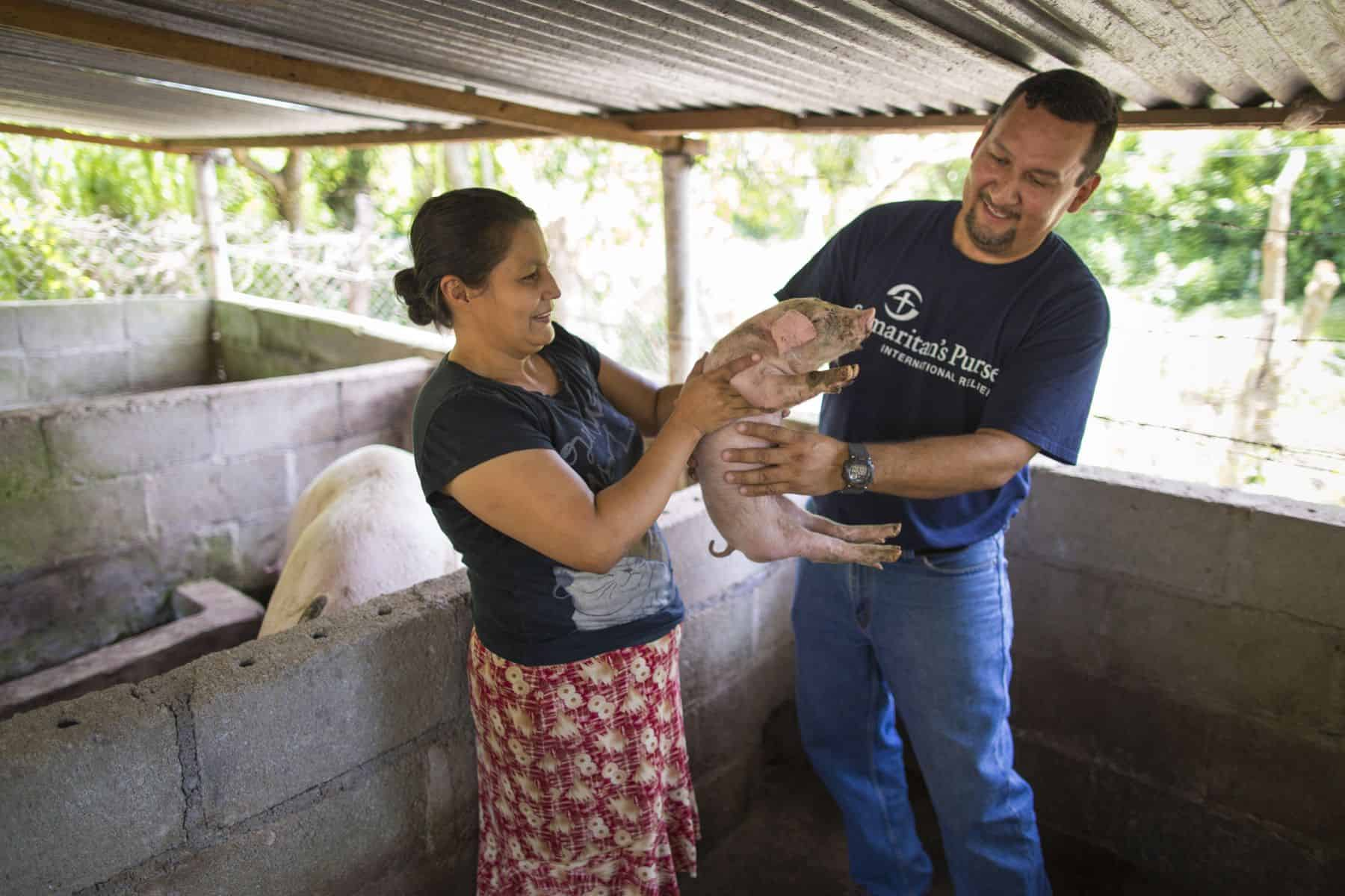 Agriculture and livelihoods projects help people to produce food for themselves and their families over the long term.