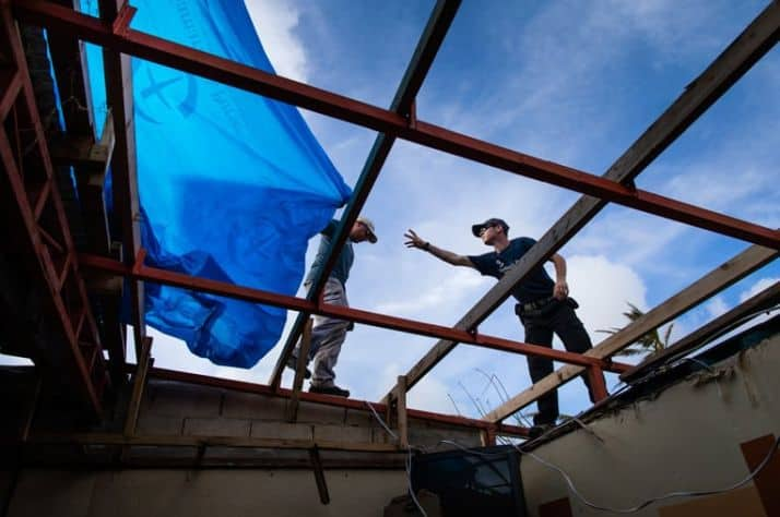 Our teams also helped tarp damaged homes in Saipan to help protect families from the elements.