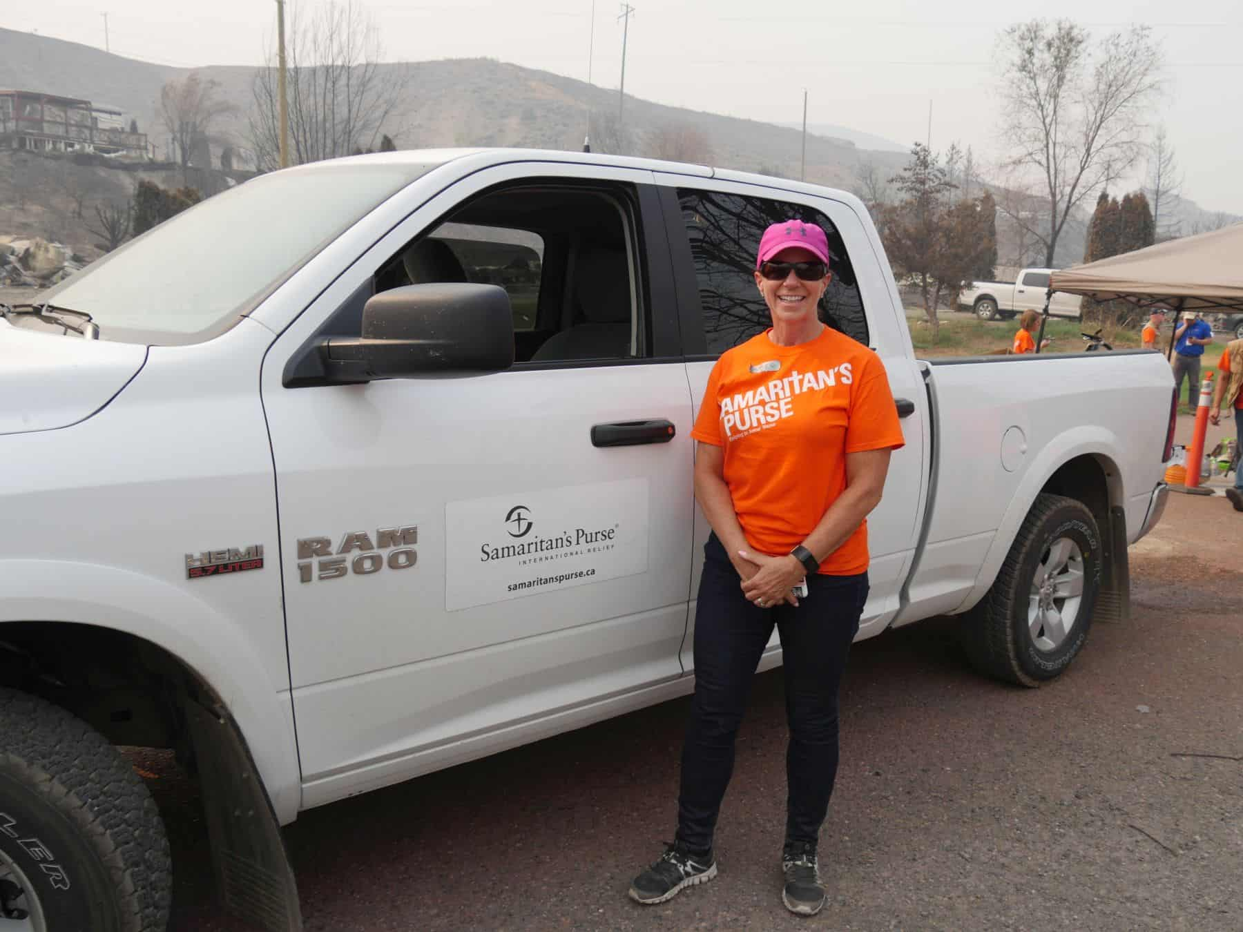 Tracey, our volunteer driver, transported homeowners to and from the fire site.